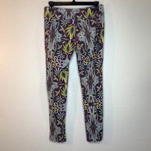 Soybu lotus mosaic purple and green yoga pants